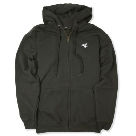 Senlak Zip Hooded Sweatshirt - Charcoal